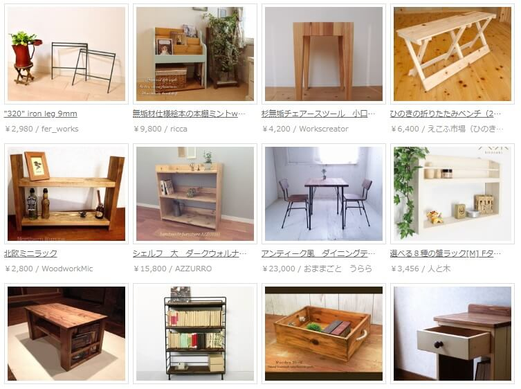 Creemaの家具