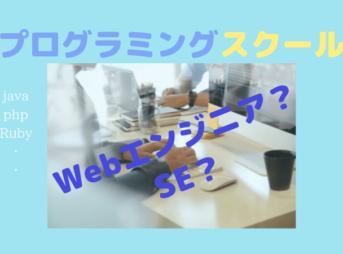 プログラミングスクールでWeb系エンジニアとSEどっちになる?