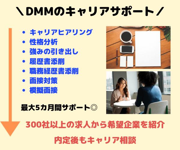 DMM WEBCAMPのキャリアサポート